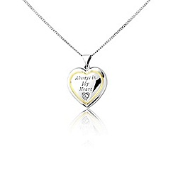 Precious Moments - Silver 'Always in my heart' pendant