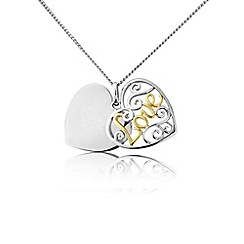 Precious Moments - Sterling silver heart shaped 'Love' pendant