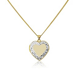 Love Story - Sterling silver heart shaped locket pendant