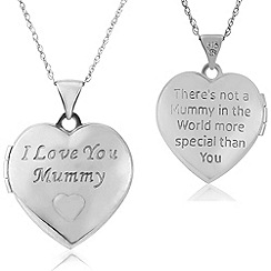 Precious Moments - Sterling silver 'i love you mummy' ladies locket