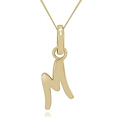 Precious Moments - 9ct Gold 'M' Initial Pendant