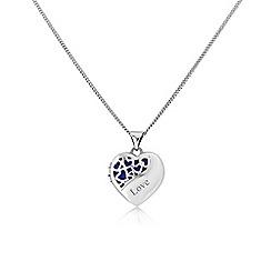 Love Story - Sterling silver filigree heart 'love' locket