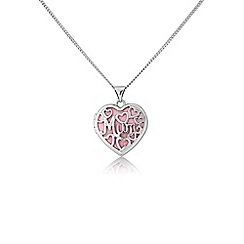 Precious Moments - Silver filigree 'Mum' locket with chain