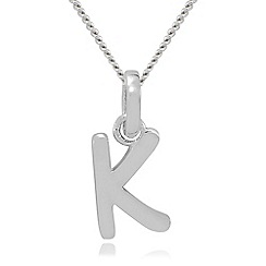 Precious Moments - Sterling Silver 'K' Initial Pendant