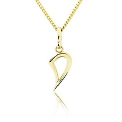 Precious Moments - 9ct Gold Initial 'D' Ladies Pendant