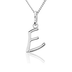 Precious Moments - Sterling Silver Initial 'E' Ladies Pendant