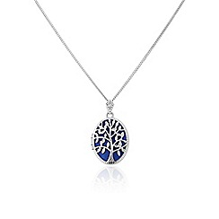 Precious Moments - Sterling silver 'I love you' tree of life cz locket