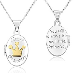 Precious Moments - Sterling silver & 9ct gold children's 'little princess' locket
