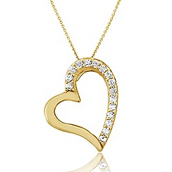 Love Story - 9ct Gold Stone-Set Pendant