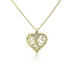 Love Story - 9ct gold diamond set decorative ladies pendant
