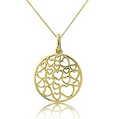 Love Story - 9ct gold pendant