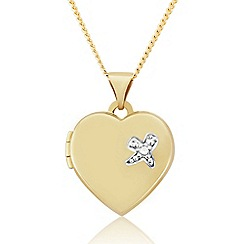 Love Story - 9ct Gold Heart Locket With Diamond