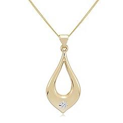 Love Story - 9ct gold diamond-set ladies pendant