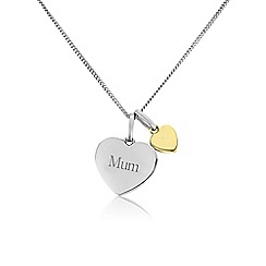 Precious Moments - Ladies silver & 9ct gold 'Mum' pendant