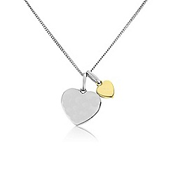 Precious Moments - Silver 9ct gold ladies pendant