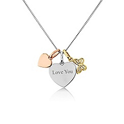 Precious Moments - Silver 'Love you' charm pendant