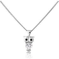 Love Story - Sterling silver owl pendant