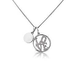 Precious Moments - Silver stone set 'Love' pendant