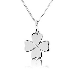 Precious Moments - Sterling Silver  Lucky Four Leaf Clover Ladies Pendant