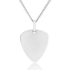 Precious Moments - Sterling Silver Triangle Gents Pendant