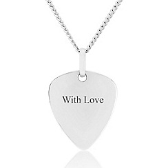 Precious Moments - Sterling Silver Triangle 'With Love' Gents Pendant