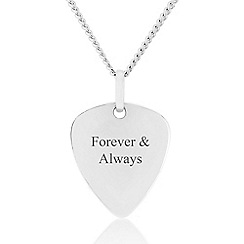 Precious Moments - Sterling Silver Triangle 'Forever & Always' Gents Pendant