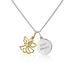 Precious Moments - Sterling silver 'Love always' angel pendant
