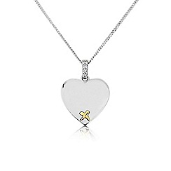 Precious Moments - Sterling Silver And 9ct Gold Pendant