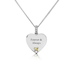 Precious Moments - Sterling Silver And 9ct Gold 'Forever & Always' Pendant