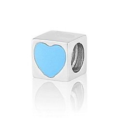 Love Story - Silver blue cube pendant
