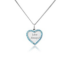 Precious Moments - Silver stone set 'Love always' pendant