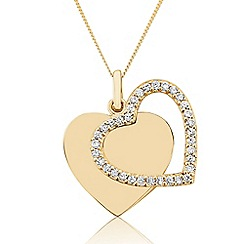 Precious Moments - 9ct Yellow Gold Stone-Set Pendant