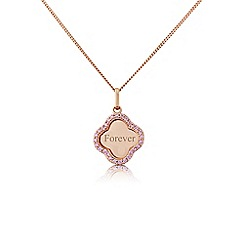 Precious Moments - Sterling silver and rose rhodium plated 'forever' pendant
