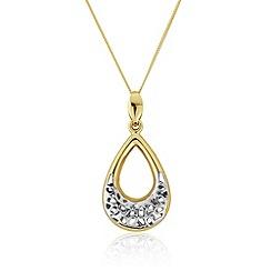 Precious Moments - 9ct gold 'garland' dropper ladies pendant