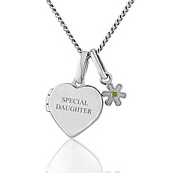 Precious Moments - Sterling Silver Childrens Locket with Daisy Charm 'SPECIAL DAUGHTER'