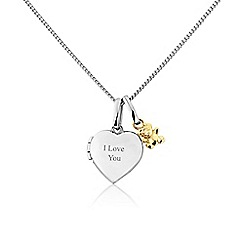 Precious Moments - Silver and 9ct gold 'I love you' locket