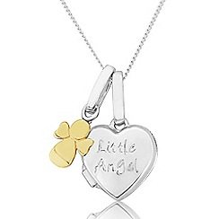 Precious Moments - Sterling Silver And 9ct Gold Girls Pendant