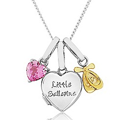 Precious Moments - Sterling Silver 9ct Gold 'Little Ballerina' Locket