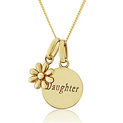 Precious Moments - 9ct Gold Daisy Charm 'Daughter' Pendant