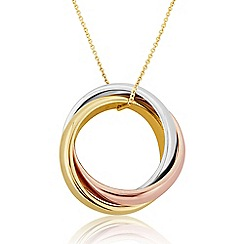 Love Story - 9ct Coloured Gold Ladies Pendant