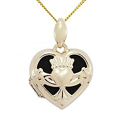 Precious Moments - 9ct Gold Claddagh Ladies Locket