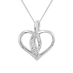Precious Moments - 9ct white gold diamond set ladies pendant