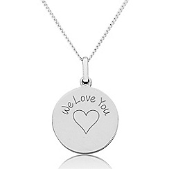 Precious Moments - Sterling Silver 'We Love You' Disc Pendant