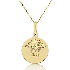 Precious Moments - 9ct Gold 'Best Friend' Pendant