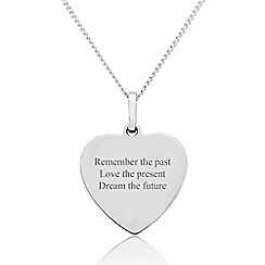 Precious Moments - Sterling Silver 'Thoughts' Message Pendant