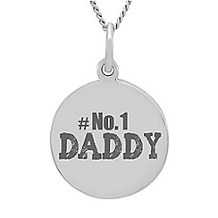 Precious Moments - Sterling Silver 'No1 Daddy' Message Pendant