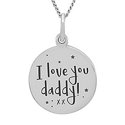 Precious Moments - Sterling Silver 'I love you daddy xx' Pendant
