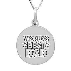 Precious Moments - Sterling Silver 'World's Best Dad' Message Pendant