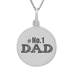 Precious Moments - Sterling Silver 'No1 Dad' Message Pendant