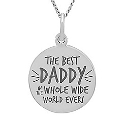 Precious Moments - Sterling Silver 'Daddy' Message Pendant